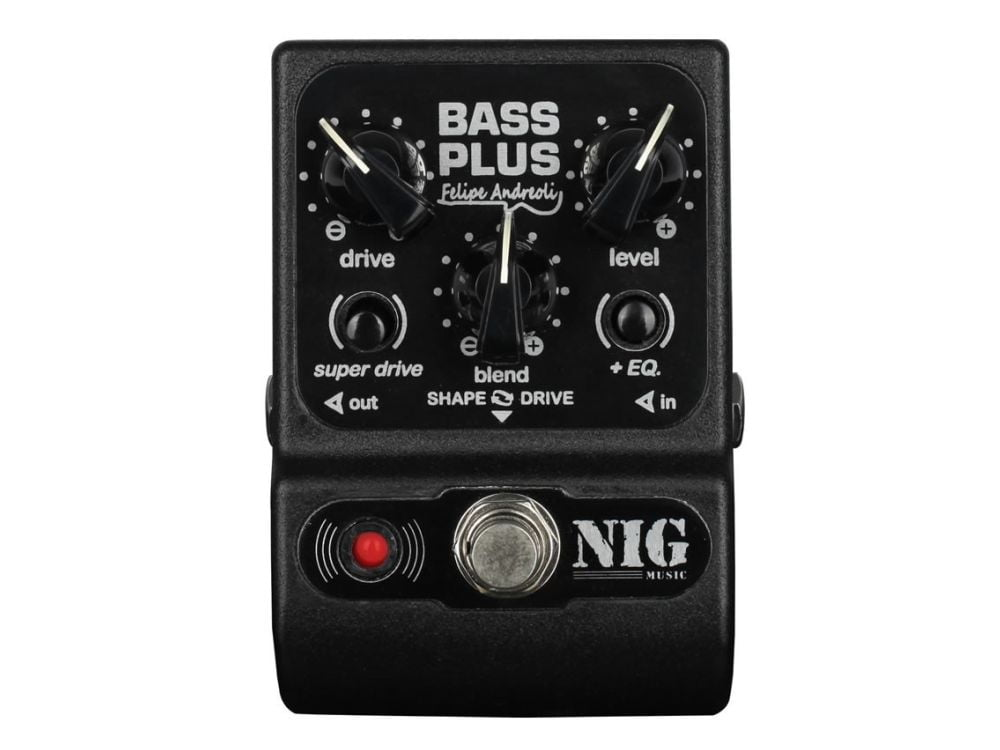 Pedal Preamp p/ Contrabaixo Nig Bass Plus Signature Felipe Andreoli PBPL