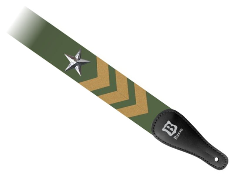 Correia 5cm Basso Pop Art Estrela Militar DE-219