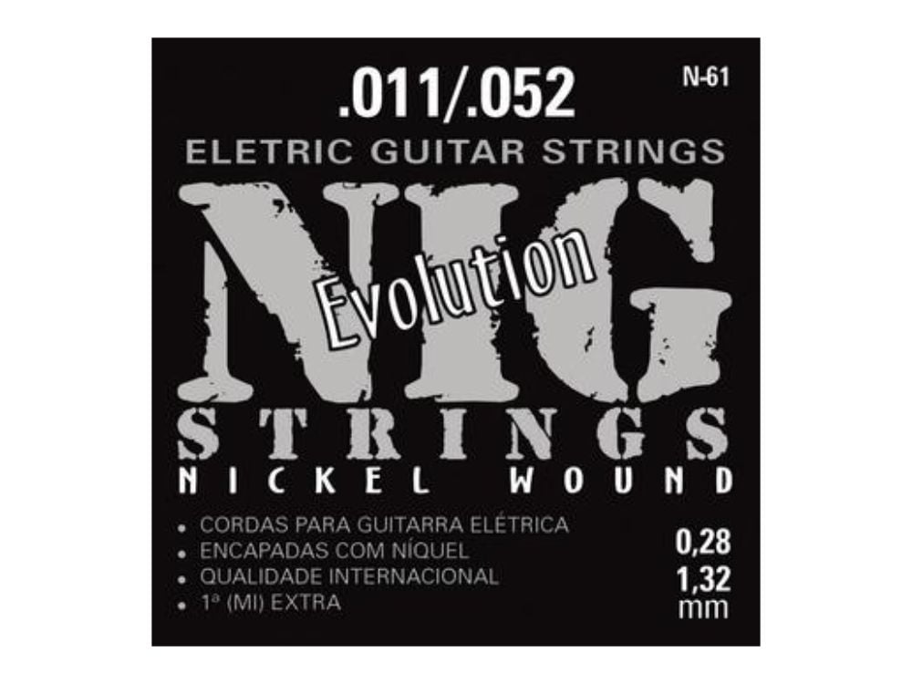 Encordoamento para Guitarra .011 Nig Evolution N-61