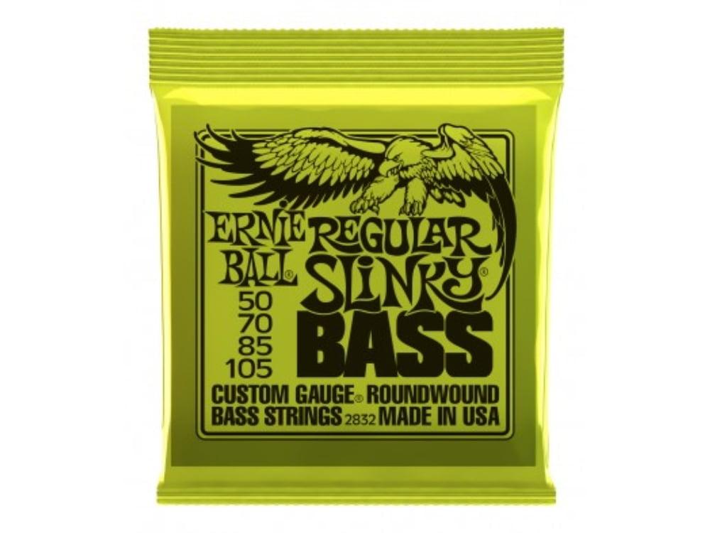 Encordoamento para Baixo 4 cordas 0.50 Ernie Ball Regular Slinky Bass 2832