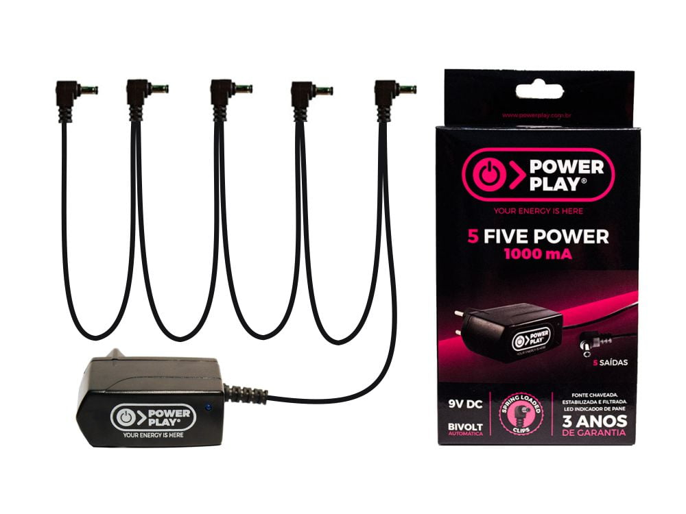 Fonte para 5 pedais 9v Power Play 5 Five Power 1000MA