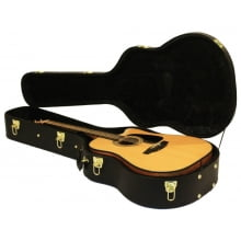 Hard Case Huiyou p/ Violão Folk Madeira Preto WC-500MG