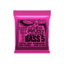 Encordoamento para Baixo 5 cordas .040 Ernie Ball Super Slinky Bass Ref. 2824
