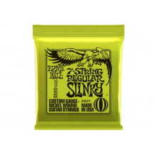 Encordoamento para Guitarra 7 cordas .010 Ernie Ball Super Regular Ref. 2621