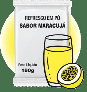 REFRESCO EM PÓ SABOR MARACUJÁ 180G FMB