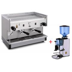 Maquina De Café Expresso De 2 Grupos Com Moinho