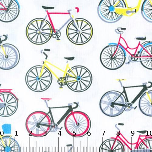 Tecido Tricoline Mista Bicicletas Coloridas 01