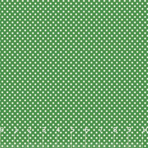 Tecido Tricoline Mista Poá P - Verde c/ Branco