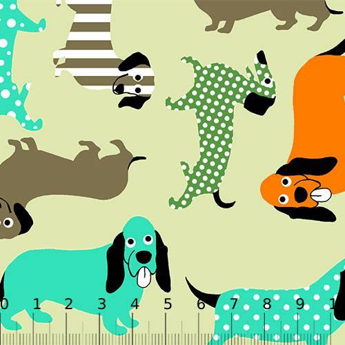 Tricoline Alg. Cães Textura - Bege