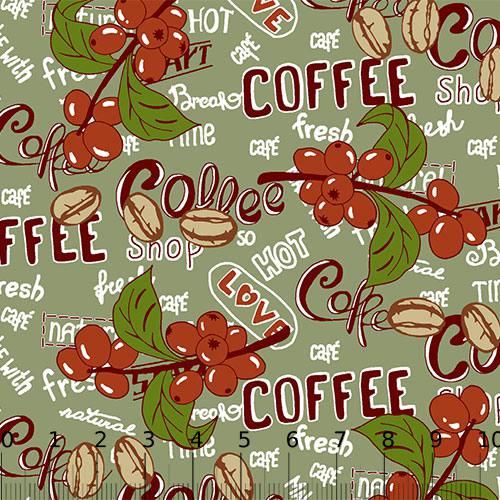 Tricoline Alg. Coffee Time - Verde