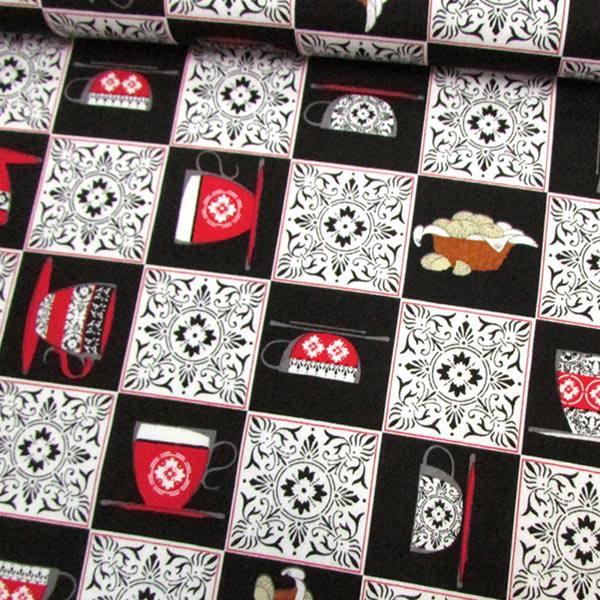 Tricoline Louças Mosaico - Preto