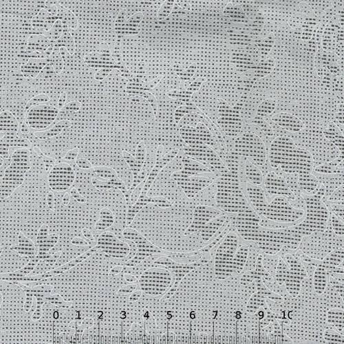 Tecido Tricoline Floral Pontilhados - Cinza - 100% Algodão - Largura 1,50m