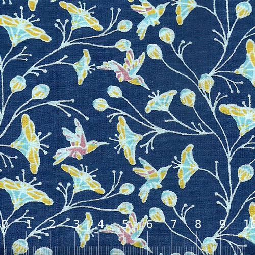 Tricoline Floral Primavera Sonora - Azul