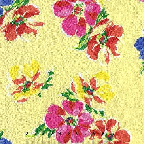 Tricoline Floral Yellow Peace - Amarelo