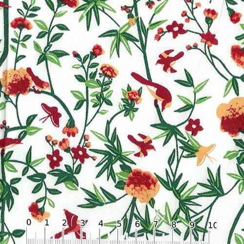 Tricoline Floral Primavera Siena - Cores