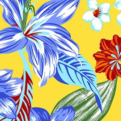 Tecido Chita Floral Antibes - Amarelo - 100% Algodão - Largura 1,40m