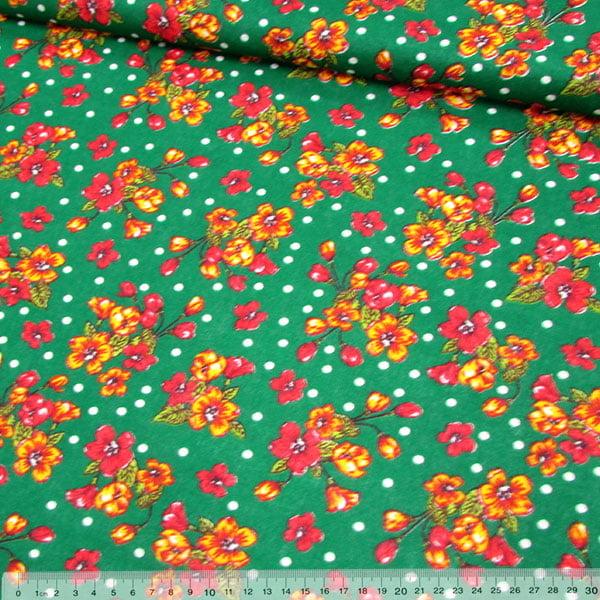 Tecido Chita Floral Arlos - Verde