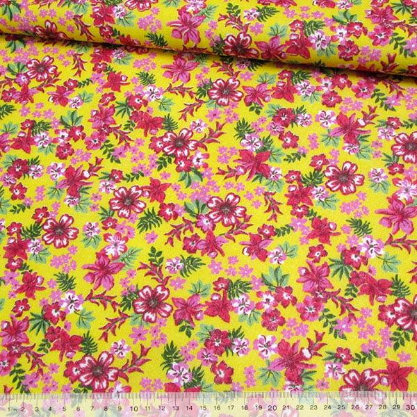 Tecido Chita Floral Biarritz - Amarelo