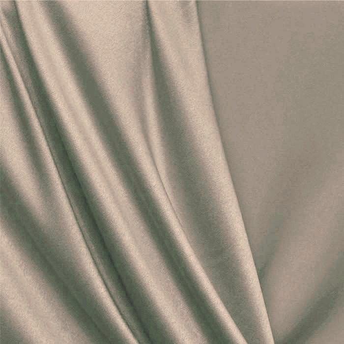 Tecido Cotton Satin / Sarja com Elastano Liso - Bege Escuro - 97% Algodão 3% Elastano - Largura: 1,50m
