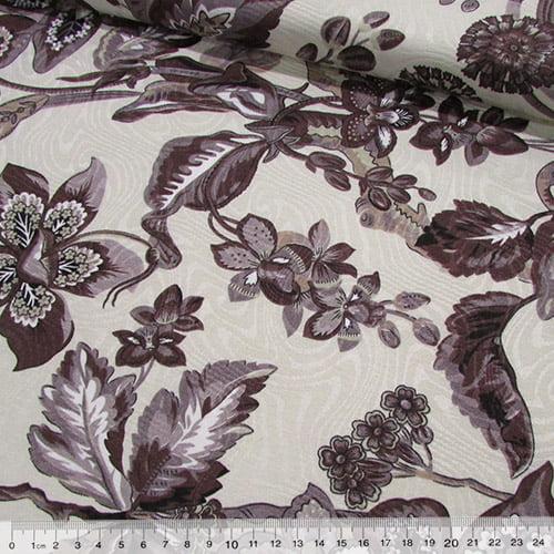 Jacquard Decor - Floral Brown