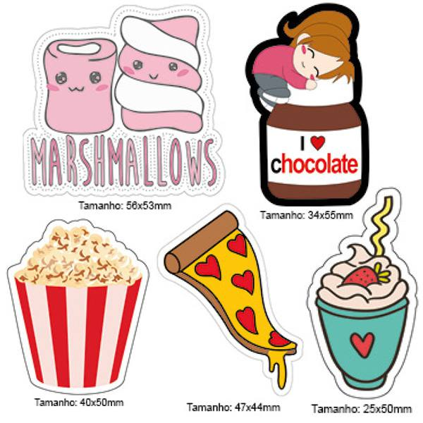 Kit Patches Termocolante - Kit 15 Marshmallows - 5 unidades