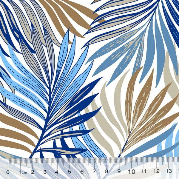 Percal 130 Fios Folhagem Colors - Azul
