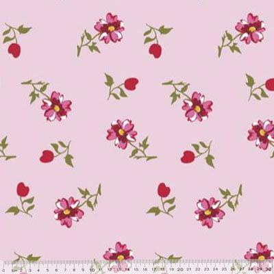 Percal 230 Fios Estampado - Coleção Floral Ref 14