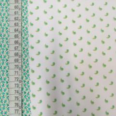 Tecido Tricoline Mista Barras Patchwork - Verde