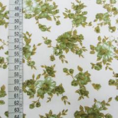 Tricoline Mista Floral Classic - Verde Oliva