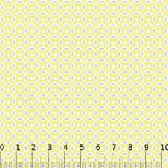 Tecido Tricoline Mista Formas Neutras - Amarelo