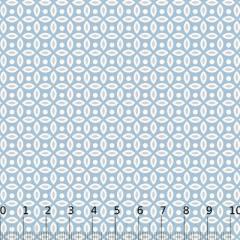 Tricoline Mista Formas Neutras - Azul