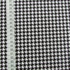 Tecido Tricoline Mista Pied Poule - 90% Algodão 10% Poliéster - Largura 1,50m