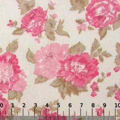 Tricoline Mista Floral Grand Garden - Rosa