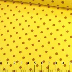 Tricoline Mista Poá Vintage - Amarelo
