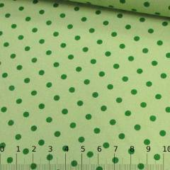 Tecido Tricoline Mista Poá Vintage - Verde Claro
