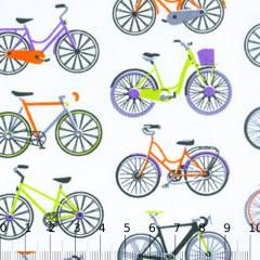 Tecido Tricoline Mista Bicicletas Coloridas 02
