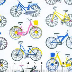 Tecido Tricoline Mista Bicicletas Coloridas 03