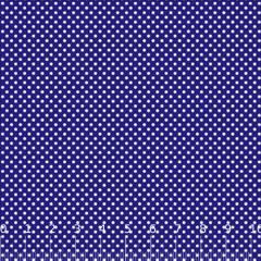 Tecido Tricoline Mista Poá P - Azul Royal c/ Branco