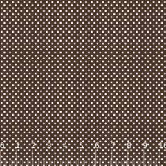 Tecido Tricoline Mista Poá P - Marrom c/ Branco - 90% Algodão 10% Poliéster - Largura 1,50m