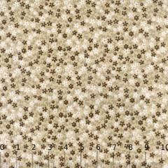Tricoline Mista Floral Brown - Marrom