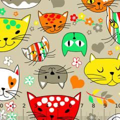 Tricoline Alg. Los Gatos - Bege