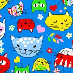 Tricoline Alg. Los Gatos - Azul