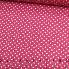 Tricoline Mista Pop - Poá M Fundo Rosa Pink