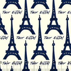 Tricoline Paris Tour - Eiffel Azul Marinho