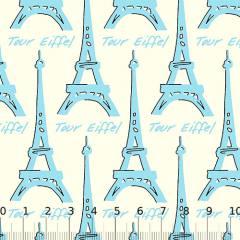 Tricoline Paris Tour - Eiffel Azul Claro