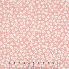 Tricoline Floral - Trevos Fundo Rosa Nude