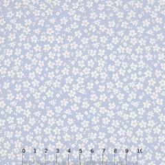 Tecido Tricoline Floral - Trevos Fundo Azul Claro