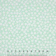 Tricoline Floral - Trevos Fundo Verde Claro