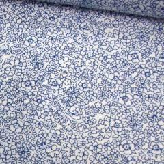 Tricoline Floral Riscos - Azul