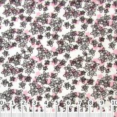 Tricoline Floral Wind Sombreado Rosa